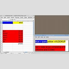 Spreadsheet Basics (vlookup Basic Usage In Openoffice Calc) Youtube