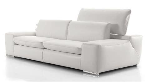 canapé cuir blanc design canape blanc en cuir maison design wiblia com