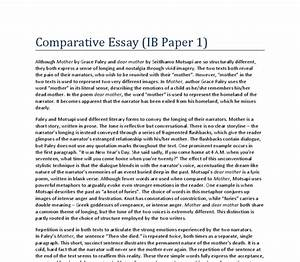 Literary Comparison Essay Essay On Ww Comparative Literature Essay  The Literary Comparison Contrast Essay Format