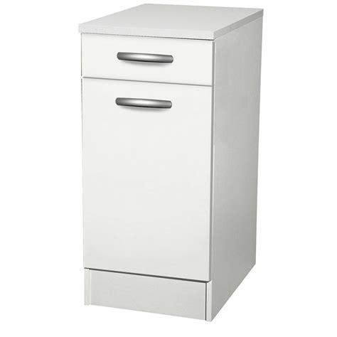 meuble de cuisine bas 1 porte 1 tiroir blanc h86x l40x p60cm leroy merlin