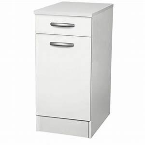 Meuble Cuisine Leroy Merlin : meuble de cuisine bas 1 porte 1 tiroir blanc h86x l40x ~ Melissatoandfro.com Idées de Décoration