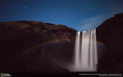 Moonbow Waterfall National Night 10wallpaper Geographic