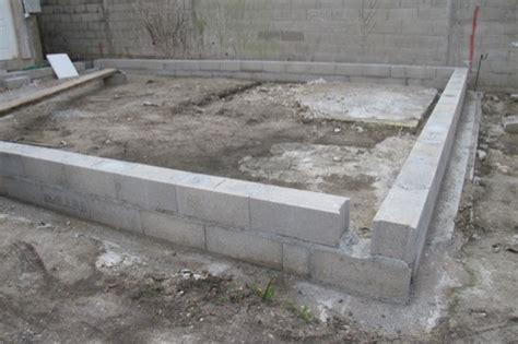 fondation des maisons en bois