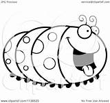 Caterpillar Hungry Coloring Cartoon Clipart Inchworm Outlined Vector Cory Thoman Pages Printable Clip Getcolorings Awesome sketch template