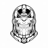 Thanos Coloring Gauntlet Infinity Drawing Creepy Coloringonly Clipartmag Printable sketch template