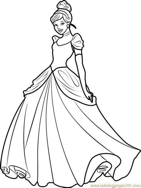 princess cinderella coloring page  disney princesses
