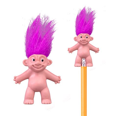 crazy hair pencil toppers