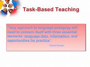 Communicative Language Teaching Task Based Learning