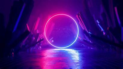 Neon Ring 4k Abstract