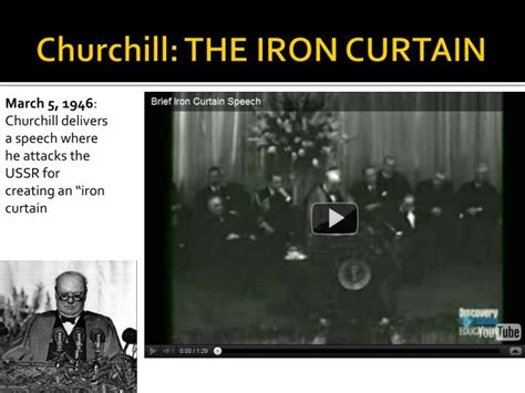 Churchill Iron Curtain Speech Points by Ppt The Cold War Powerpoint Presentation Id 7065679