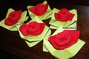 Pliage De Serviette Pour Noel Facile : recette de pliage de serviette rose ~ Dode.kayakingforconservation.com Idées de Décoration