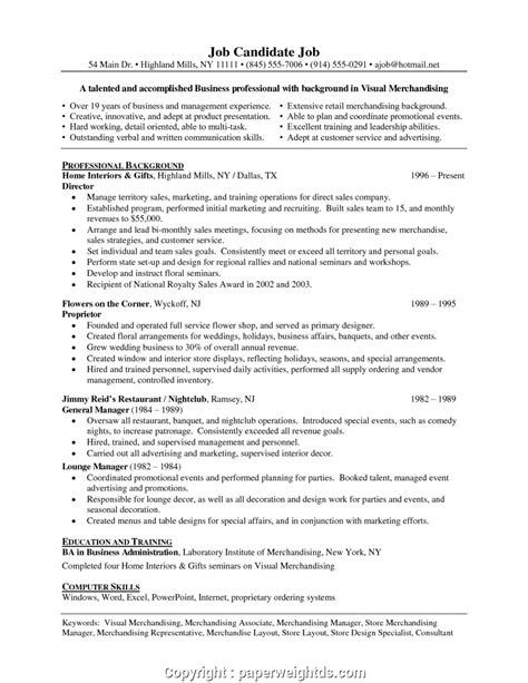 Visual Merchandising Resume by Downloadable Retail Visual Manager Resume Visual