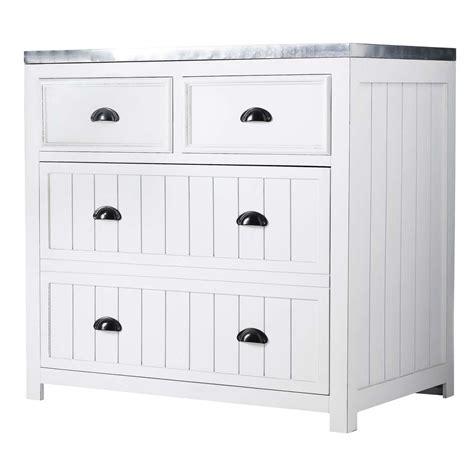 meuble cuisine blanc meuble bas de cuisine en pin blanc l 90 cm newport maisons du monde