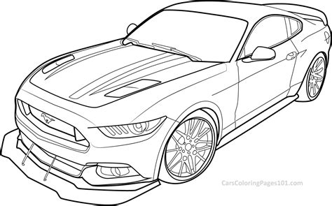 mustang coloring pages ford mustang gt apollo edition 2015 front view