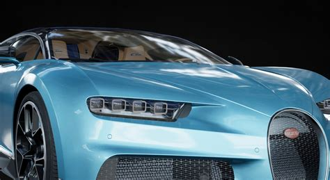 Bugatti chiron pur sport 2021 (opening doors and trunk) 3ds max + dwg fbx oth obj: 3D model 2018 Bugatti Chiron UE4 with interior | CGTrader