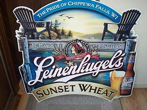 Leinenkugels Sunset Wheat Tin Sign
