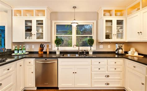 kitchen with island layout 24 stylish black and white u shaped kitchen home design
