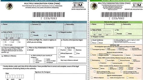 Mexican Immigration Requirements For A Tourist Visa