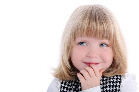 Bob With Bangs Hairstyle For Little Girls