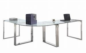 Chintaly Imports 6931 Computer Desk Table - Clear Glass