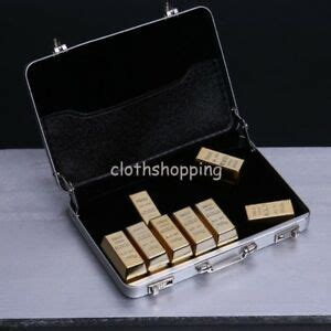 Gold Bar Accessories by 1 6 Scale Gold Bricks Gold Bar Suitcase Accessories