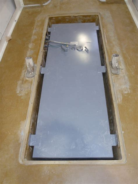 Boat Gas Tank Floor Cover by Tank Installation Babylon Boat Works