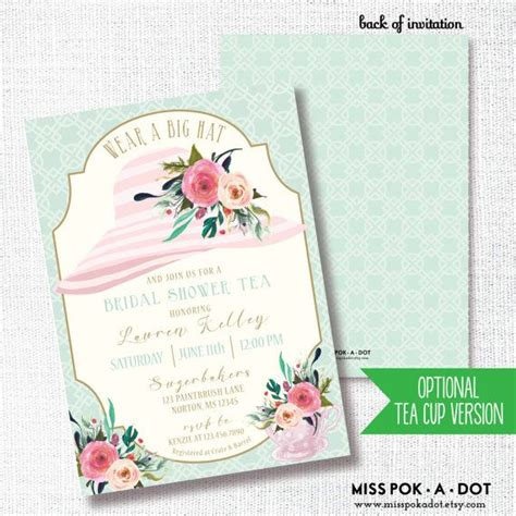 Wearing A Hat After Shower by Wear A Hat Bridal Shower Invitation Editable Printable
