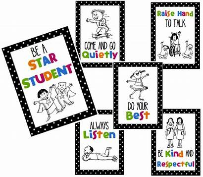 Rules Class Star Students Classroom Clipart Student
