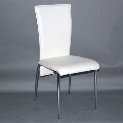 chaise blanche simili cuir agréable chaise simili cuir blanche 0 chaise de cuisine
