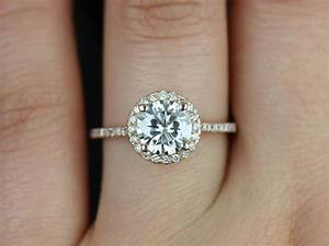 Round Diamond Engagement Rings On Hand Simple Engagement ...