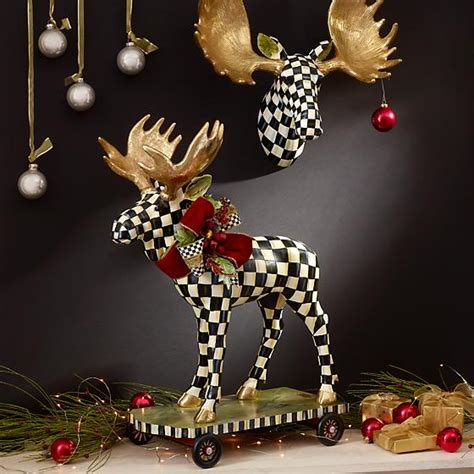 mackenzie childs courtly check small moose