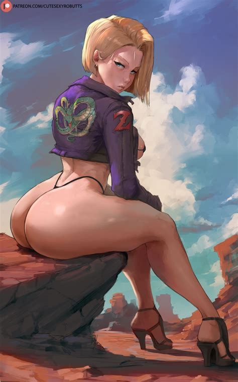 Android 18 By Cutesexyrobutts Hentai Foundry