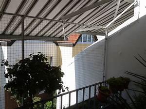 balkonvernetzung mit markise der katzennetz profi With markise balkon mit strukturputz auf tapete