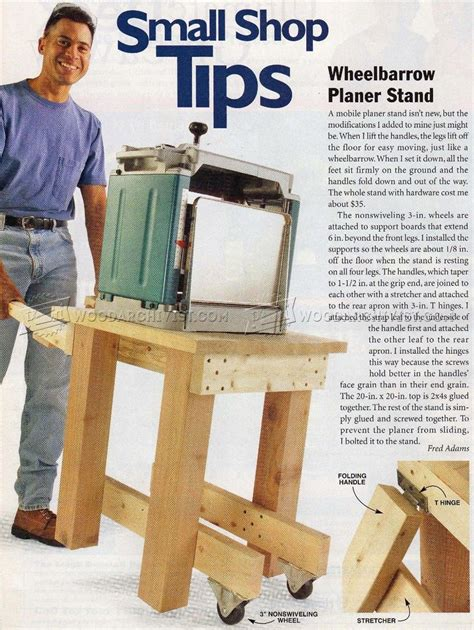 portable planer stand plans woodarchivist