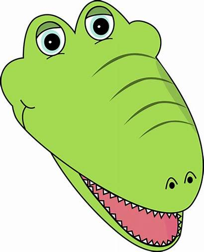 Alligator Face Facing Right Clipart Clip Animated