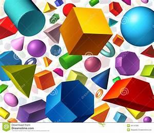 Geometriska Former Stock Illustrationer  Illustration Av