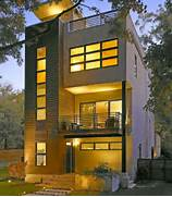 Narrow House Facade Area Modern Homes Peg Pinterest Modern Houses House And Modern