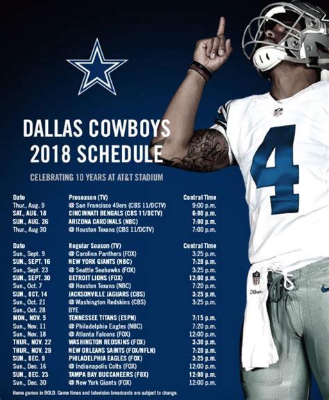 cowboys schedule released dfwsportsonline