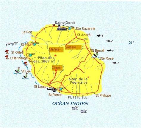 La Réunion Carte Géographique Monde by Ou Se Trouve L Ile De La Reunion Carte My