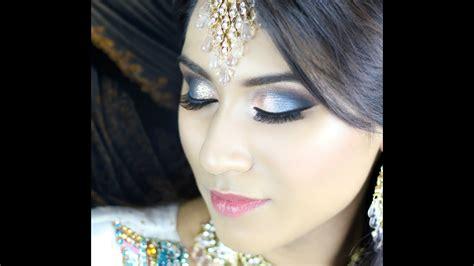 blue turquoise orange smokey eye walima bridal
