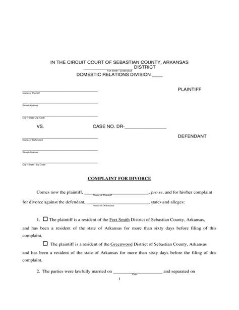 arkansas divorce forms download divorce information and forms arkansas free download