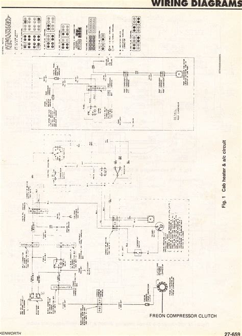 pin  kenworth wiring diagram