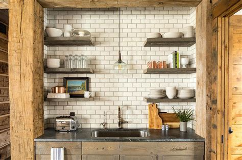 rustic kitchen sink rustic cabin kitchen with wood pillars and beams country