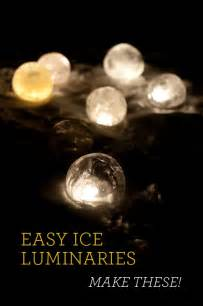 Easy Ice Luminaries
