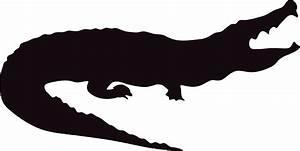 Crocodile Silhouette Related Keywords - Crocodile ...