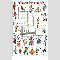 Halloween Mots Croisés Fiche D'exercices  Fiches Pédagogiques Gratuites Fle