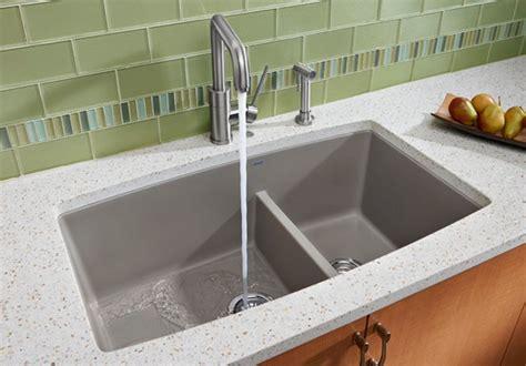 blanco    undermount double bowl granite sink    bowl depth