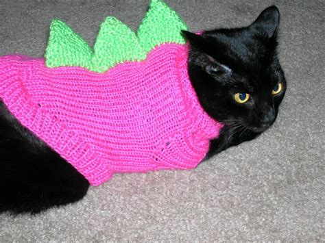 cat sweaters for cats you to see dino cat sweaters on craftsy
