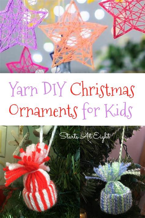 yarn diy christmas ornaments  kids startsateight