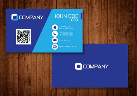 blue creative visiting card vector   vector art stock graphics images